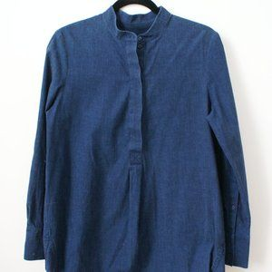 Long mao-collar COS shirt with side slits